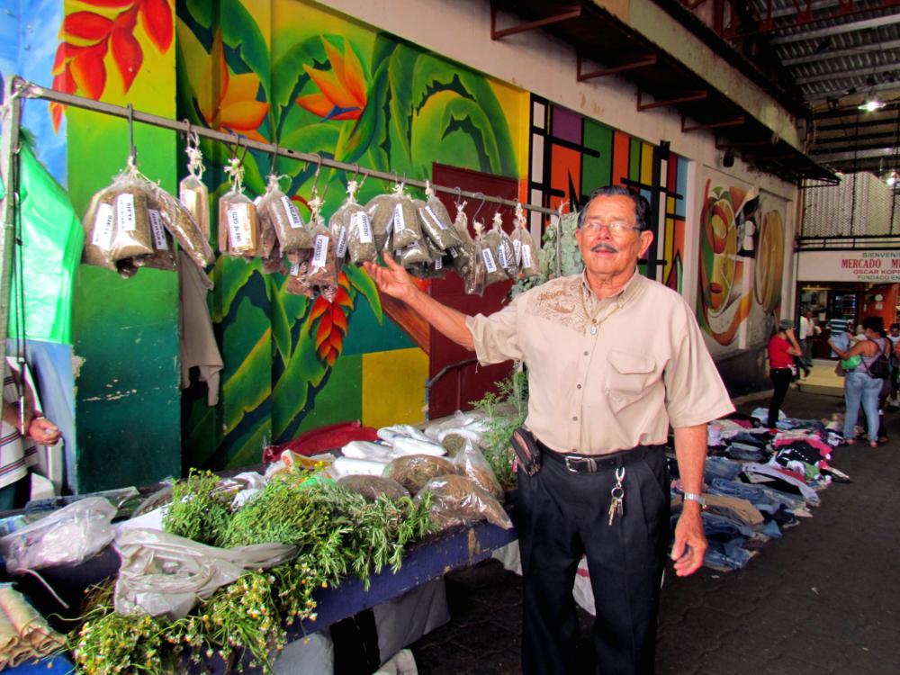Domingo Umaña is more than a medicinal plant seller.