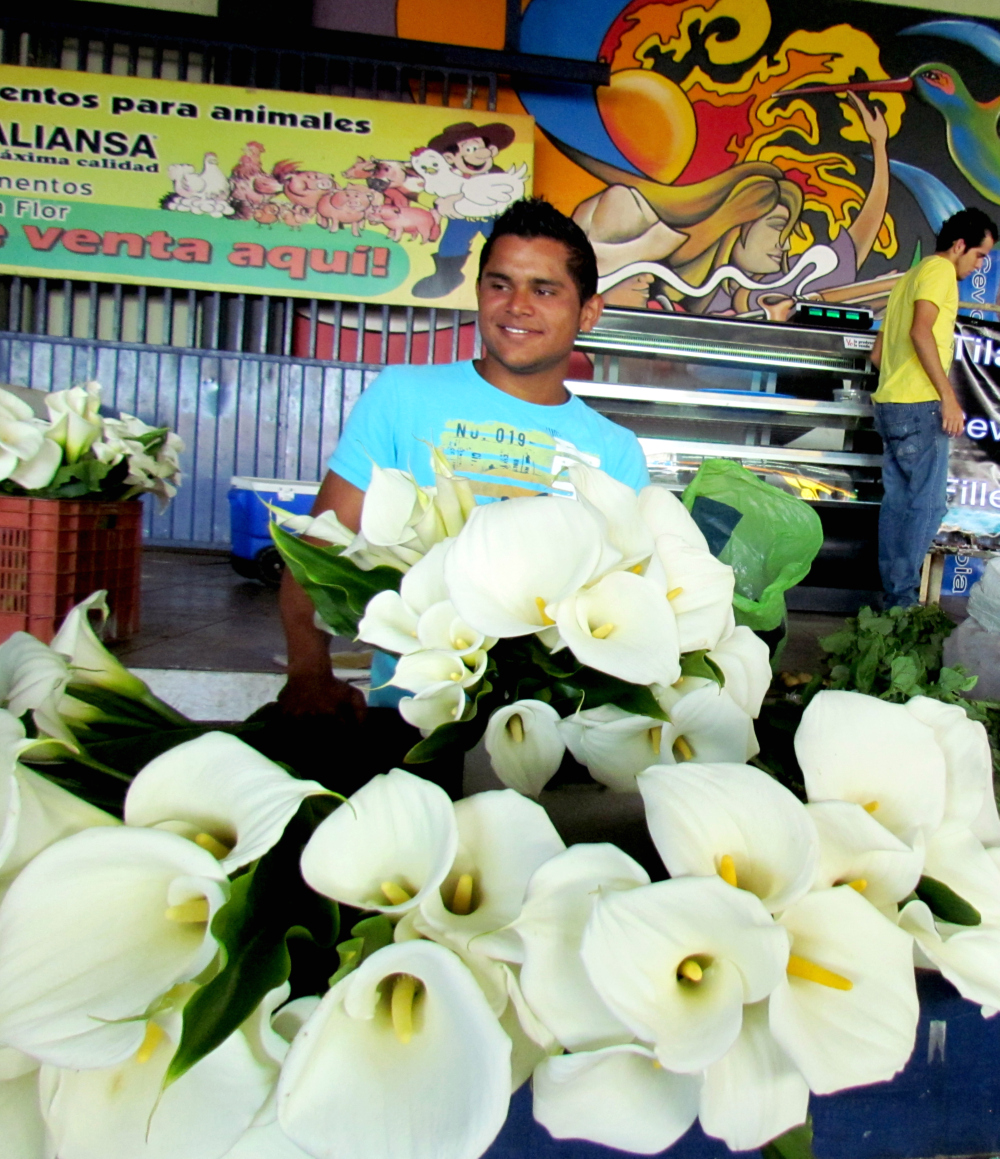 Javier's family found a new income for its family in the flowers production.