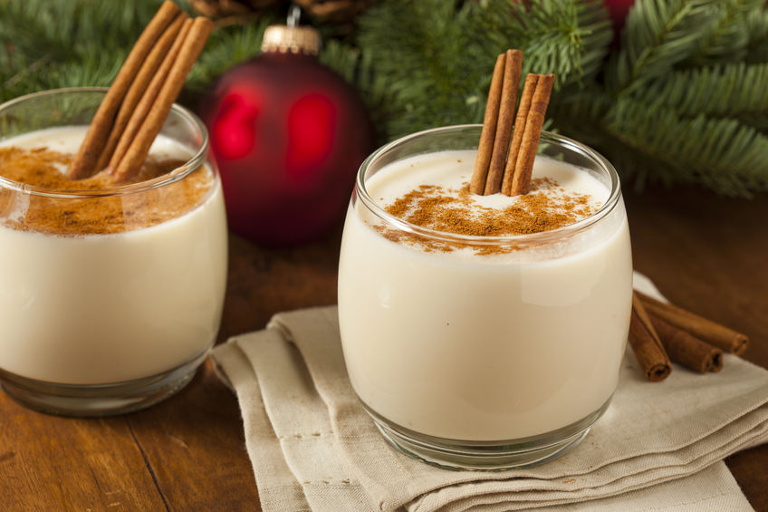 Recipe for eggnog preparation