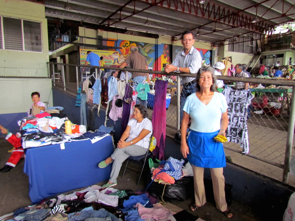 Miriam Arce offers used clothes with low prices.